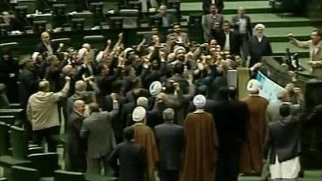 Members of Iran's parliament