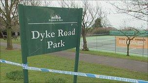 Dyke Road Park rape scene