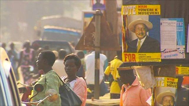 Election posters in Gulu, Uganda