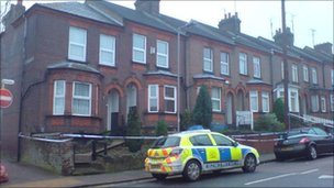 Police cordon in Ashton Road