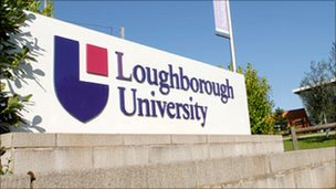 Loughborough University sign