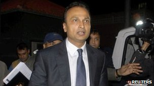 Anil Ambani leaves the CBI office in Delhi on 16 Feb 2011