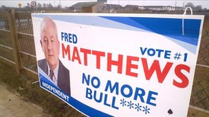 Fred Matthews election poster
