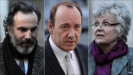 Daniel Day-Lewis, Kevin Spacey and Julie Walters