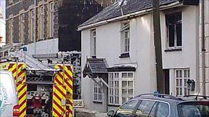 Fire scene on Thursday morning