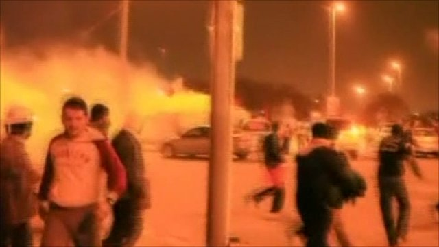 Riot police fire tear gas at protesters in Manama, Bahrain overnight