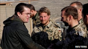 German Defence Minister Karl-Theodor zu Guttenberg meets soldiers in Afghanistan (Germany army photo 17 Feb 2011)