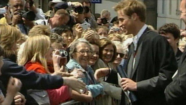 Prince William on his graduation day