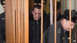 Opposition activist Vasily Parfenkov on trial in Minsk