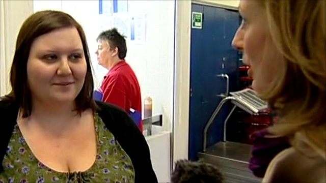 The BBC's Laura Bicker speaks to ''Emma,'' a student in Hull