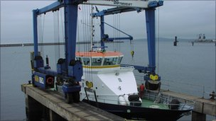 The Smit Towy at Holyhead Marine