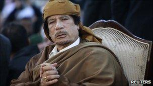 Libyan leader Col Muammar Gaddafi, Tripoli (13 February 2011)