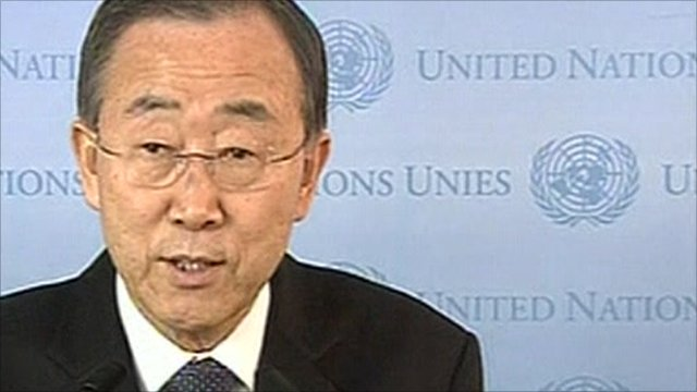 UN Secretary General, Ban Ki Moon