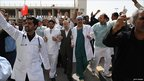 Doctors protest in Manama