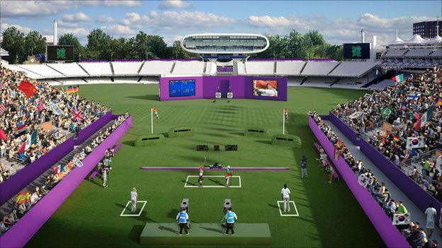 CGI of how Lord's Cricket Ground may look during the Olympic archery contest.