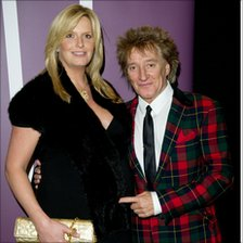 Rod Stewart and Penny Lancaster pictured earlier this month
