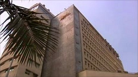 Al-Ahram in Cairo - newspaper, publishing house, cultural centre. 17 Feb 2011