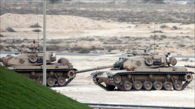 Bahrain tanks