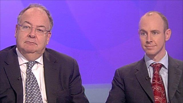 Lord Falconer and Daniel Hannan