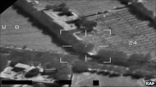 Attack image [Pic: RAF]