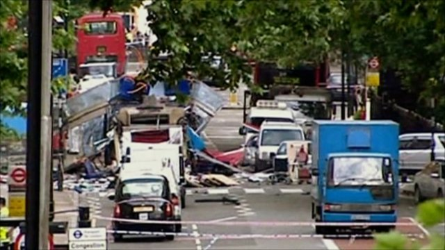 Bus bombed at Tavistock Square