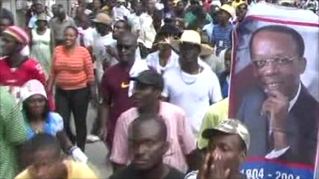 Rally on the streets of Port-au-Prince