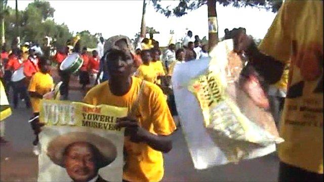 Yoweri Museveni supporters