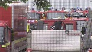 London Fire Brigade engines