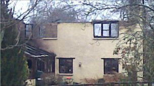 Cottage damaged by fire