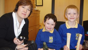Jamys Christian and Corrin Leeming from St John's Primary School