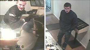 CCTV images of men police want to trace