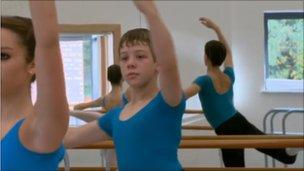 Jamie at the Elmhurst School for Dance