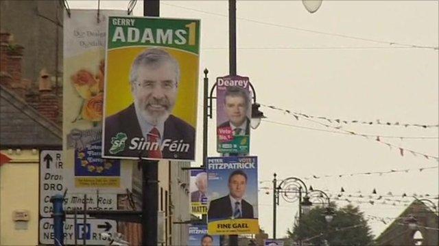 Gerry Adams campaign poster
