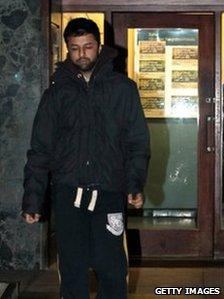 Shrien Dewani leaving Southmead police station after he reported there as part of his bail conditions in January