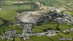 Delabole's slate quarry