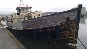 Yarmouth Navigator after salvage