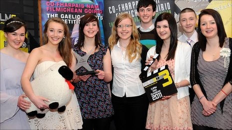 Millburn Academy pupils. Pic: FilmG