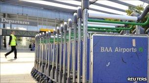 Luggage trollies at Heathrow