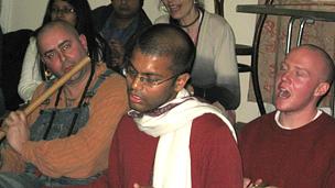 Hare Krishna followers in Norwich