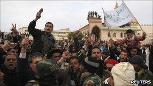 Opposition supporters in Tobruk (22 Feb 2011)
