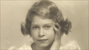 Princess Elizabeth poses for a photograph on 1 November 1934