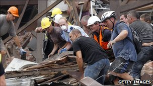 Rescuers searching for survivors of the Christchurch earthquake