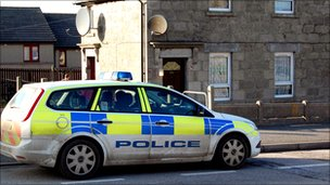 Police at scene [Pic: Davie Tait]