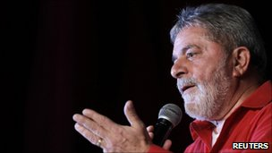 Luiz Inacio Lula da Silva at the 31st anniversary of the Workers Party on 10 February, 2011