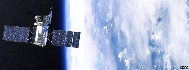 Artist's impression of Glory in orbit (Nasa)
