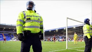 Police at a football match