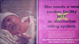 Advert arguing against a switch to the Alternative Vote system
