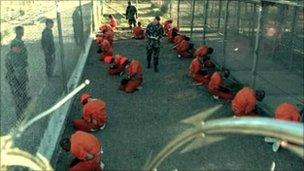 Prisoners in Guantanamo Bay