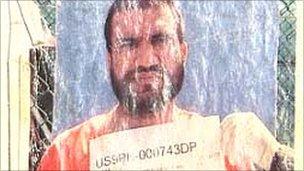 Mr Madni's Guantanamo Bay detention card