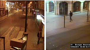 Theo captured by a second CCTV camera in Westgate and in Bourges Boulevard